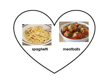 Valentine's Day Matching Game- Foods that Love Each Other