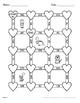 Valentine's Day Math: 2-Digit By 1-Digit Multiplication Maze
