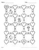 Valentine's Day Math: 2-Digit and 1-Digit Addition Maze