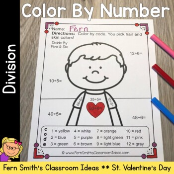 Color By Number St Valentine's Day Division
