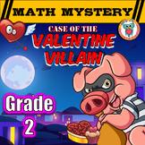 2nd Grade Valentine's Day Math Mystery Activity {Grade 2}