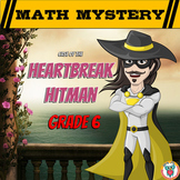 Valentine's Day Math Mystery Activity 6th Grade - Printable & Digital Worksheets