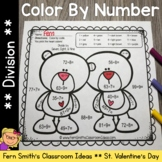 Color By Numbers St Valentine's Day Division Valentine's Cuties