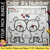 Color By Number St Valentine's Day Add Subtract Multiply D