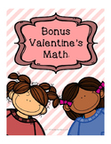 Valentine's Day themed Math pages - measure, missing addends, odd and even