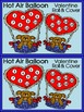 Valentine's Day Activities: Hot Air Balloon Roll&Cover Activity Bundle -Color&BW