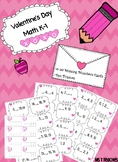 Valentine's Day Math Missing Numbers Task Card