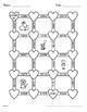 Valentine's Day Math: 3-Digit By 2-Digit Multiplication Maze