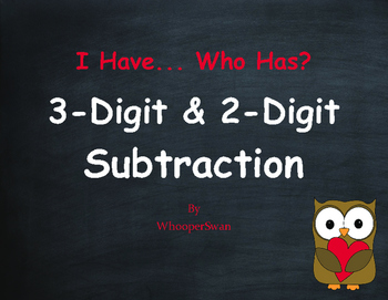 Valentine's Day Math: 3-Digit and 2-Digit Subtraction - I