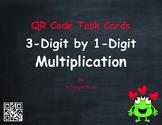 Valentine's Day Math: 3-Digit by 1-Digit Multiplication QR Code Task Cards