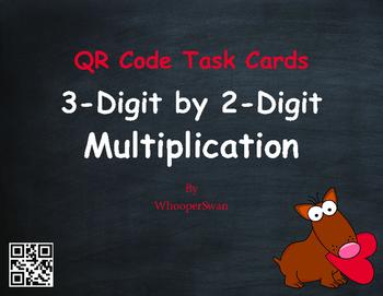 Valentine's Day Math: 3-Digit by 2-Digit Multiplication QR