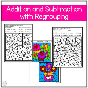 Valentines Day Coloring Pages Addition and Subtraction