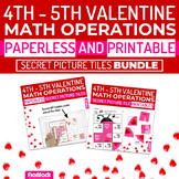 Valentine's Day Math | 4th-5th | Paperless + Printable Secret Picture Tiles SET