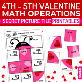 Valentine's Day Math 4th-5th Secret Picture Tile Printables