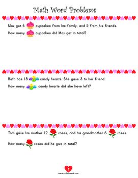Valentine's Day Math Activities - 1st Grade