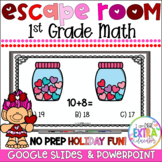 Valentine's Day Math Activities 1st Grade Virtual Party Digital Escape Room