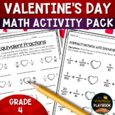 Valentine's Day Activities: Math Packet (4th Grade)