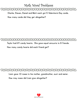 Valentine's Day Math Activities - 3rd Grade