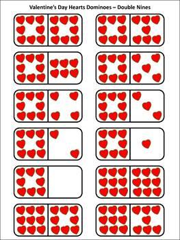 Valentine's Day Math Activities: Heart Dominoes Math Activity & Math Game