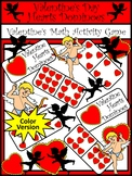 Valentine's Day Math Activities: Heart Dominoes Valentine's Day Game - Color