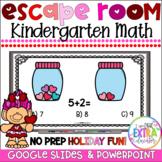 Valentine's Day Math Activities Kindergarten Virtual Party Digital Escape Room