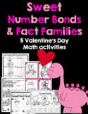 Valentine's Day Math Activities- Number Bonds and Fact Families