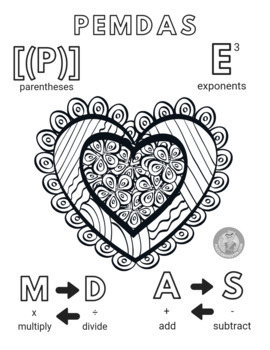 Valentine's Day Math - Order of Operations Posters - PEMDAS Posters