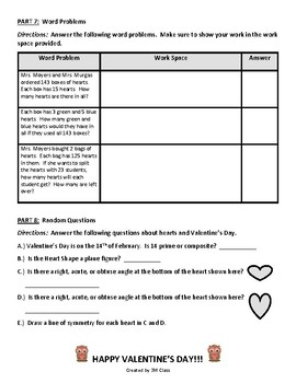 Valentine's Day Math Activities for the Upper Grades