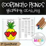 Valentine's Day Math Activity: Coordinate Plane Graphing Activity Pineapple!
