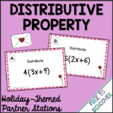 Valentine's Day Math Activity - Distributive Property