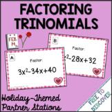 Valentine's Day Math Activity - Factoring Trinomials