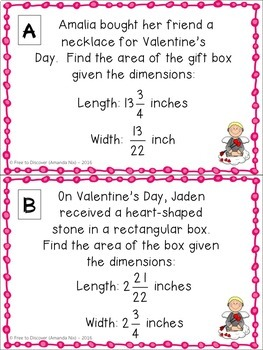 Valentine's Day Math Activity - Multiplying Mixed Numbers