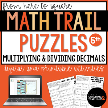 Valentine's Day Math Solve Cut and Paste: Multiplying and Dividing Decimals