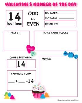 Valentine's Day Math Activity Number of the Day