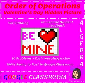Valentine's Day Math Activity - Order of Operations with Google Classroom