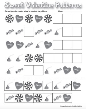 Valentine's Day Math Activity Patterns
