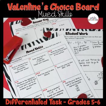 Valentine's Day Math Activity Upper Elementary