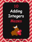 Valentine's Day Math: Adding Integers Maze