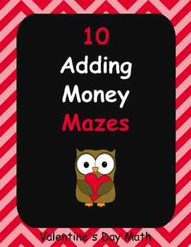 Valentine's Day Math: Adding Money Maze