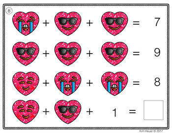 Valentine's Day Math Activities |Addition Task Cards