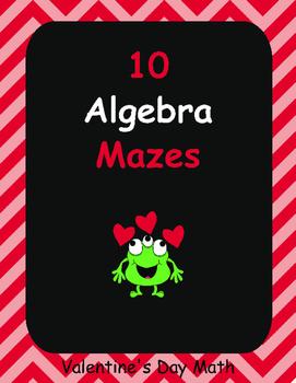 Valentine's Day Math: Algebra Maze