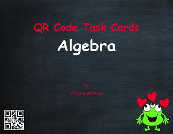Valentine's Day Math: Algebra QR Code Task Cards