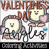 Valentine's Day Math: Angles Color by Number