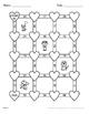 Valentine's Day Math: Average of 2 digits Maze