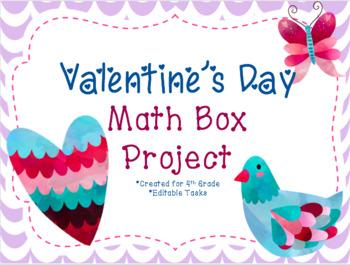 Valentine's Day Math Box Project