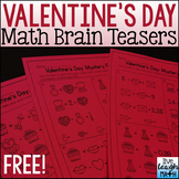 Valentine's Day Math Brain Teasers