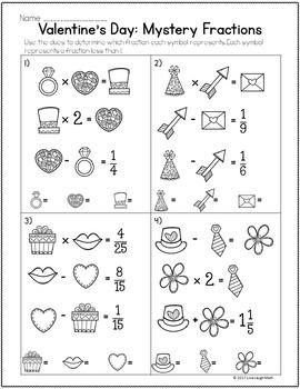 Valentine's Day Math Brain Teasers