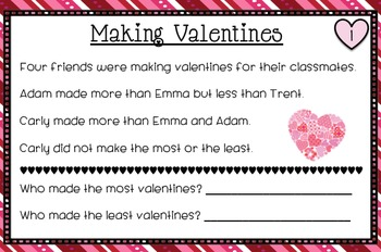Valentine's Day Math Task Card PACK