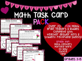 Valentine's Day Math Task Card PACK