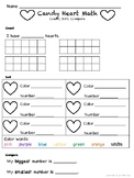 Valentine's Day Math Candy Conversation Heart Count, Sort,